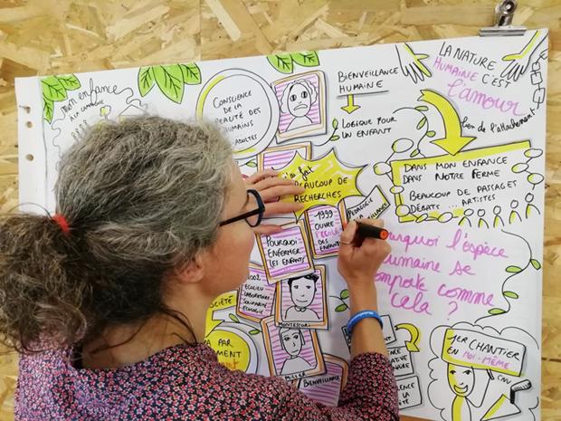Sophie Graphiqueasy en train de dessiner